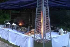 BBQ set up in private garden