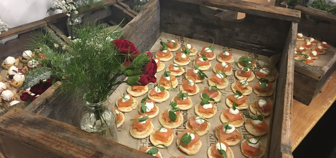Canapes at garden party